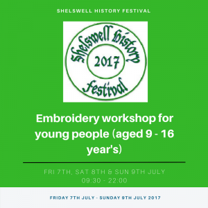Embroidery workshop for young people (aged 9 - 16 year's)