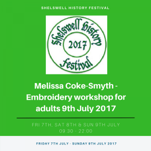 Melissa Coke-Smyth - Embroidery workshop for adults 9th July 2017